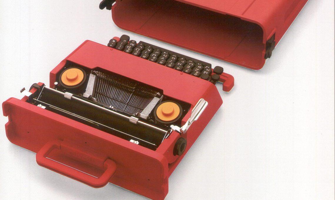 Vlentine con valigetta, design Ettore Sottsass jr (1969)
