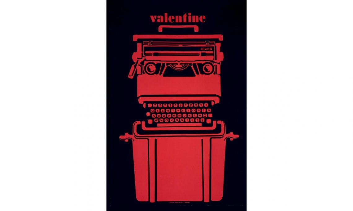 Valentine ,design Ettore Sottsass (1969)