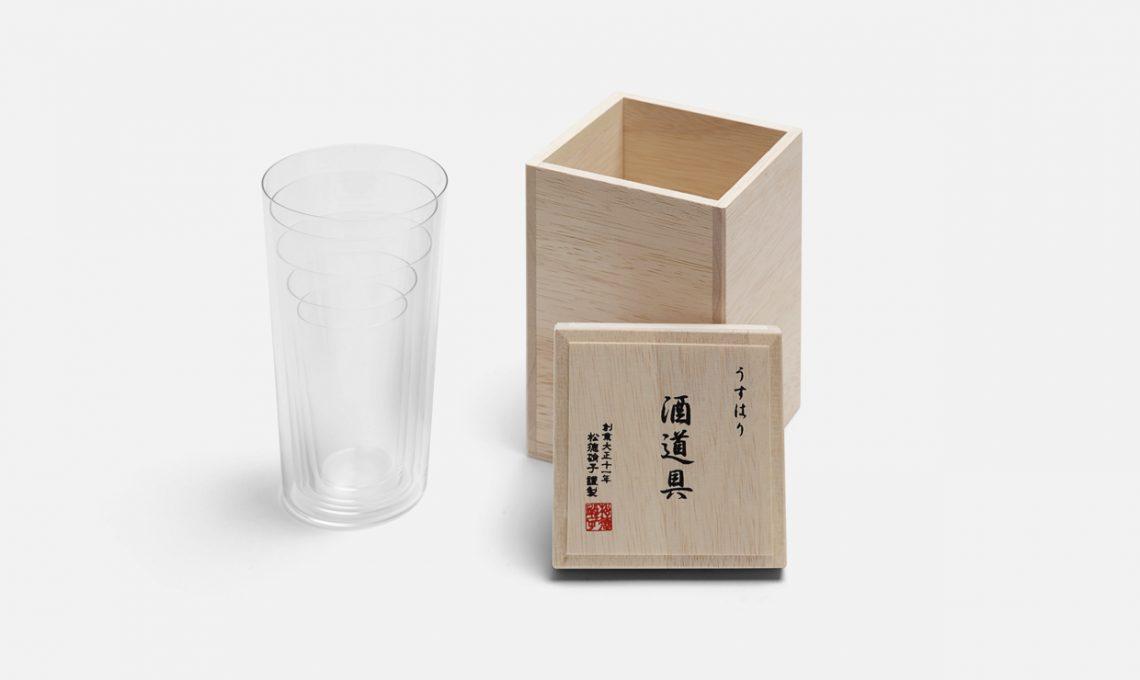 Set di 5 bicchieri con scatola