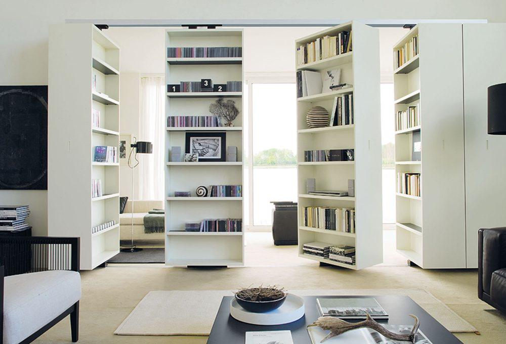 Dividere la stanza con la libreria girevole