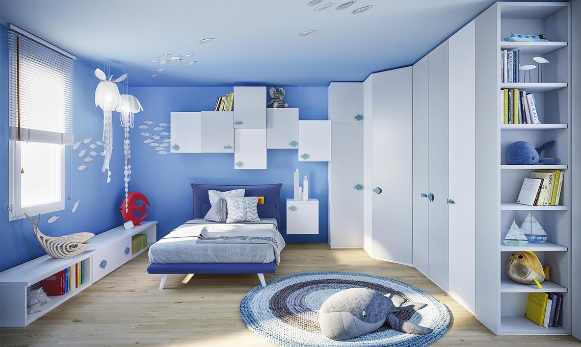 10 Camerette Nelle Sfumature Del Blu Casafacile