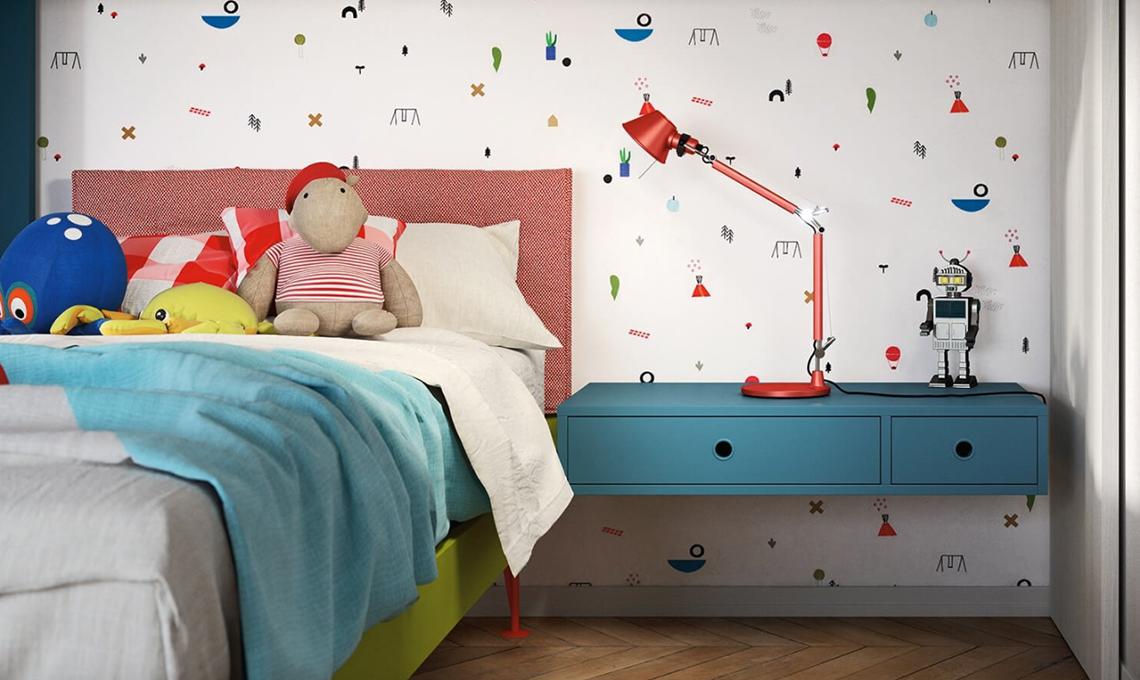 10 carte da parati di design per la cameretta casafacile for Carte da parati per camerette bambini