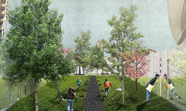 Per il Fuorisalone un giardino segreto in piazza Gae Aulenti