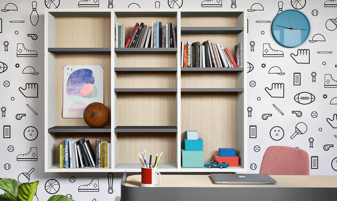 10 librerie per la camera dei ragazzi casafacile for Idee per arredare camera ragazzo