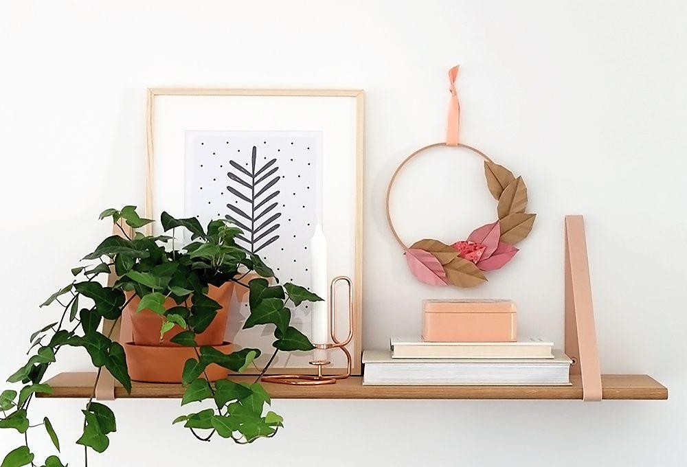 Crea una ghirlanda con le foglie di carta