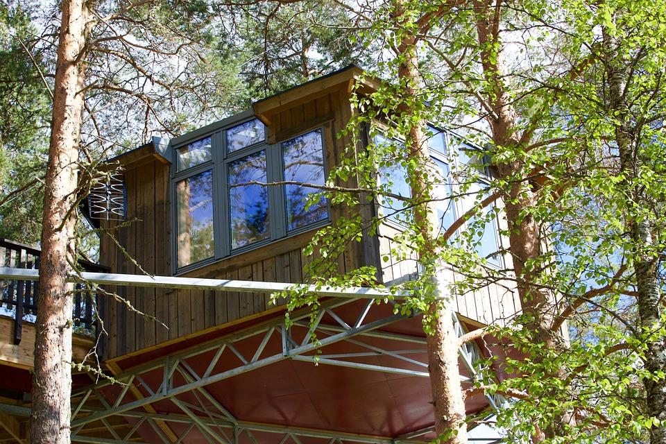 Case sull'albero: tra eco-design e benessere