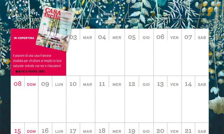CasaFacile di aprile ti regala il planning del mese
