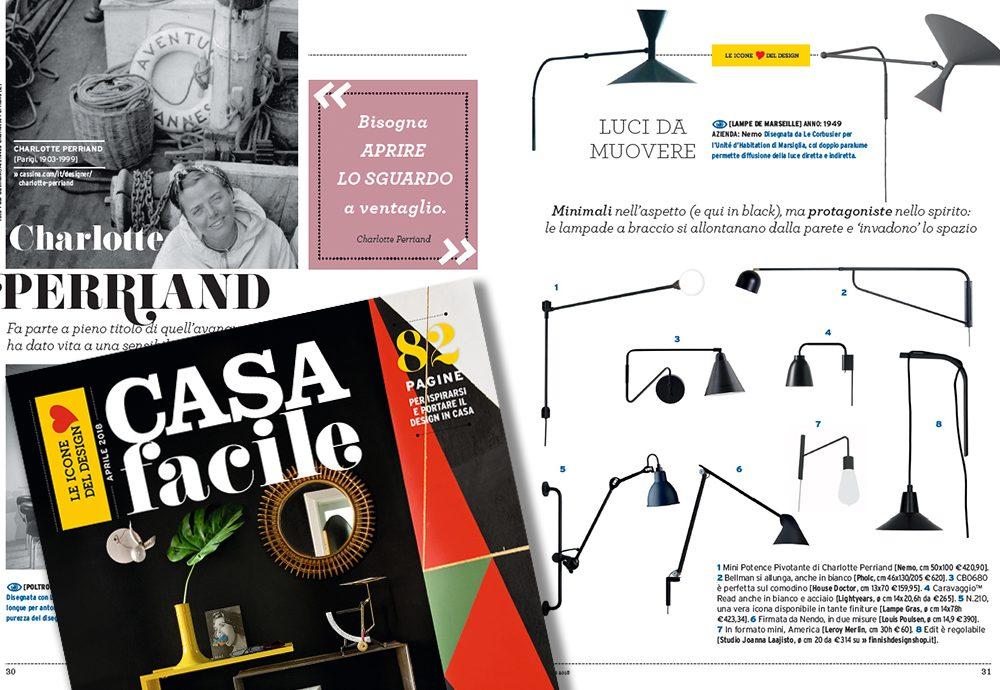 Le icone del design in edicola con CasaFacile ad aprile 2018