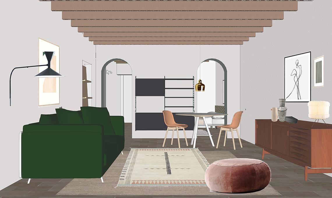progetto arredare soggiorno
