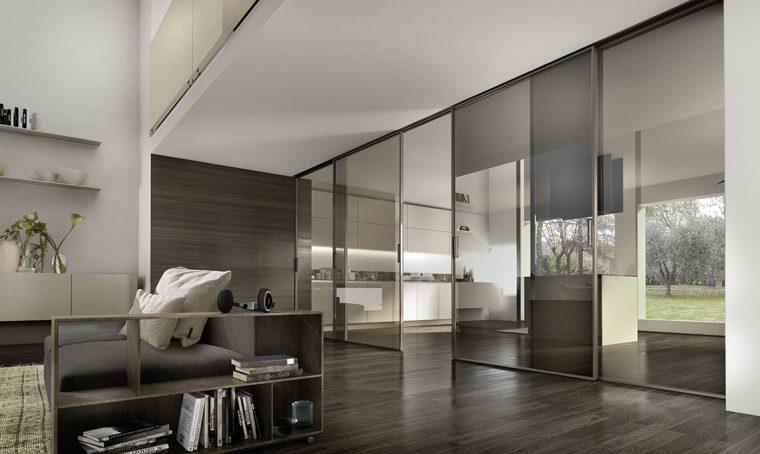 Porte scorrevoli per dividere e creare una stanza nella stanza