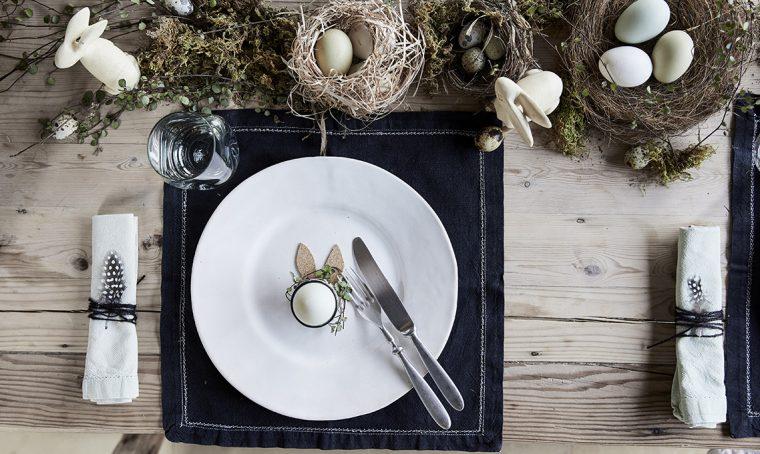 Tavola di Pasqua: rustico-chic