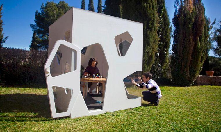 6 casette da giardino di design per bambini