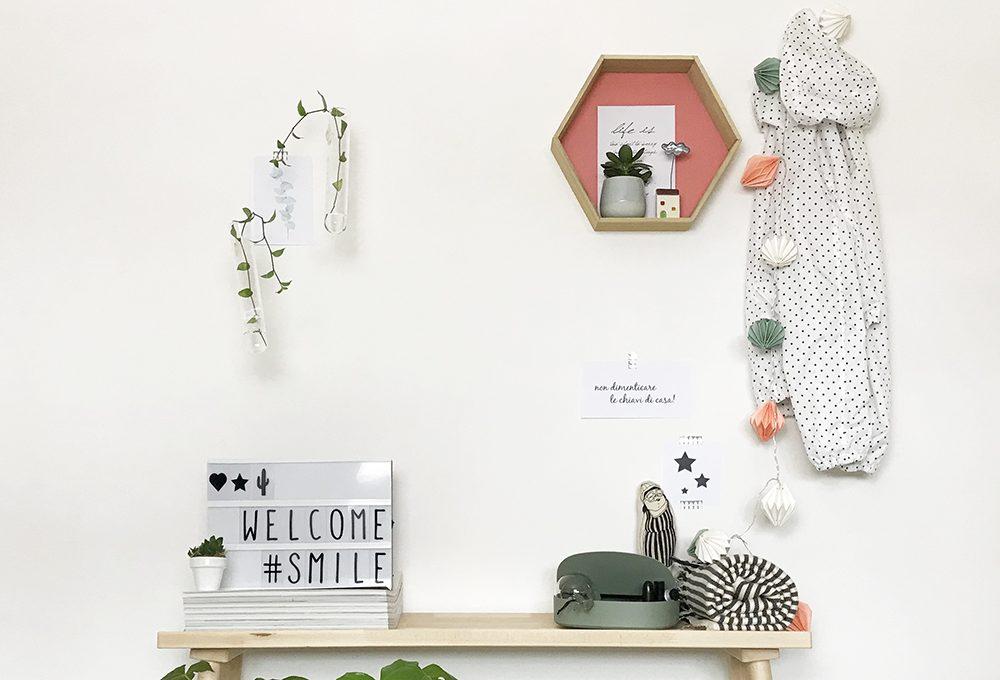 """Una parete d'ingresso dal sicuro """"effetto welcome"""""""