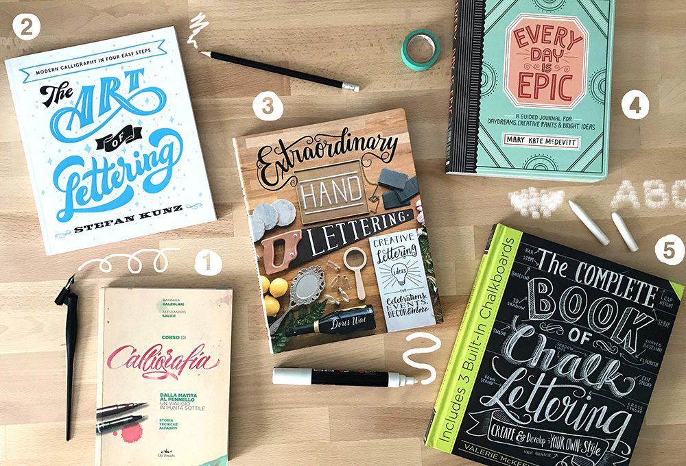 5 più uno libri sul lettering per i tuoi progetti creativi