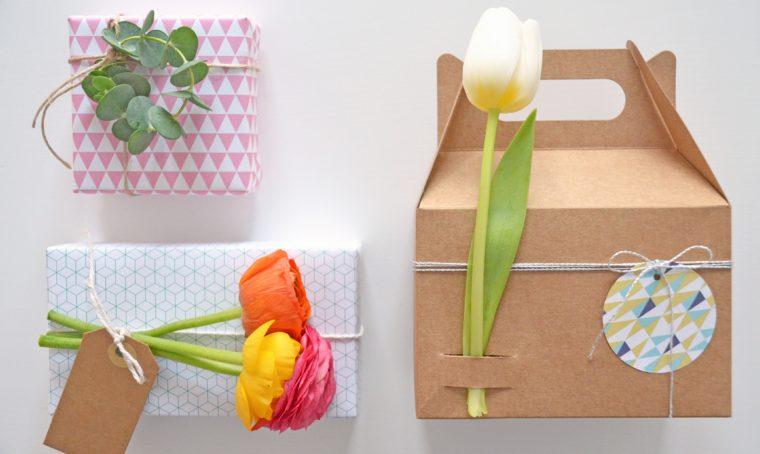 3 idee per decorare i pacchetti con i fiori
