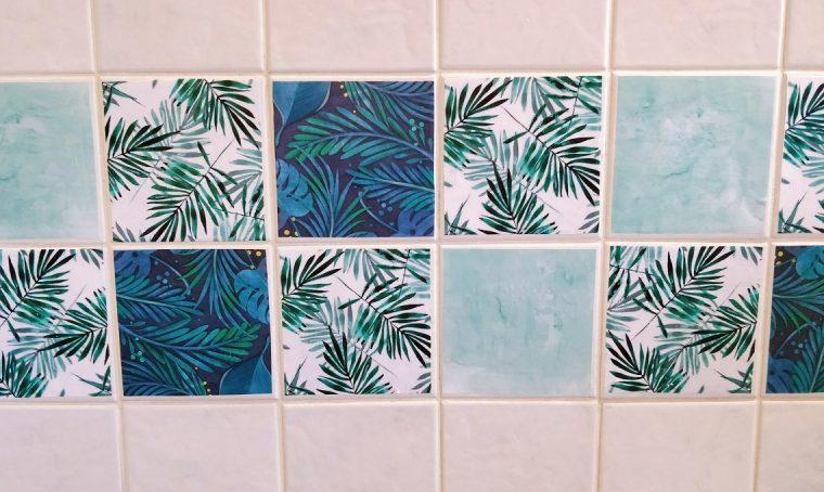 Porta la giungla in casa decorando le piastrelle