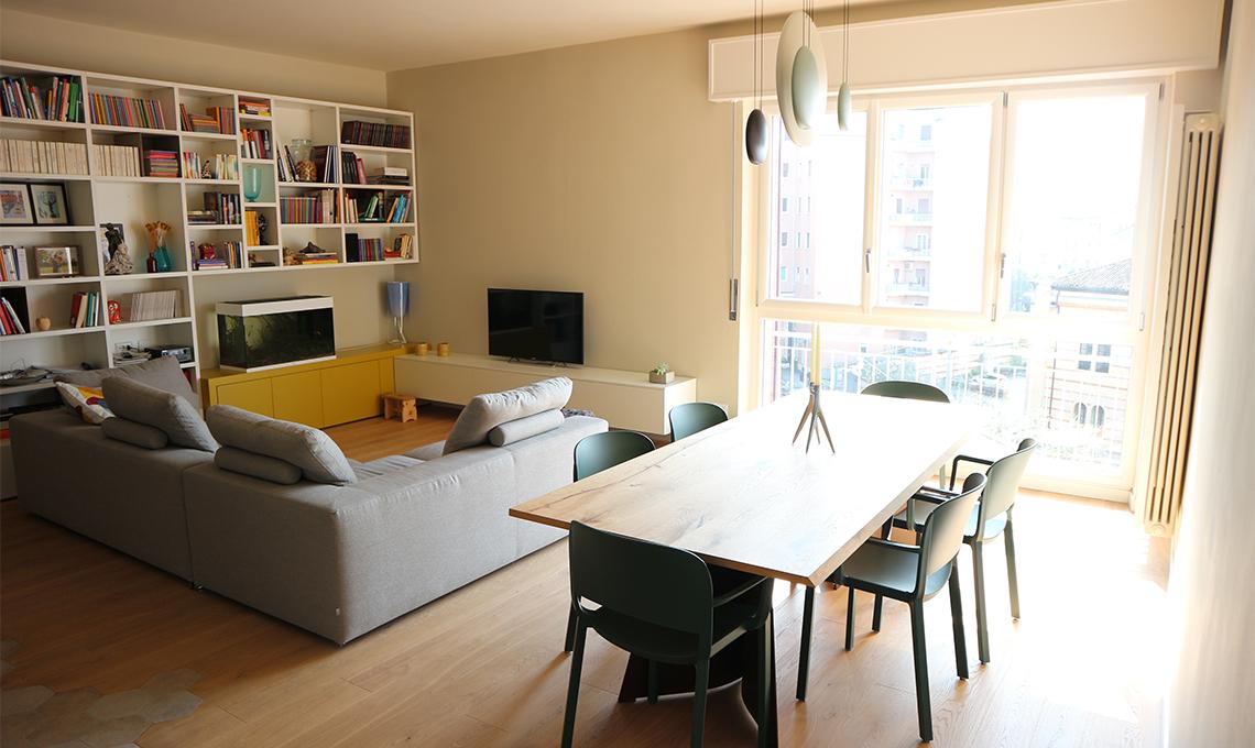 Un appartamento dallo spirito moderno casafacile for Foto di appartamenti arredati