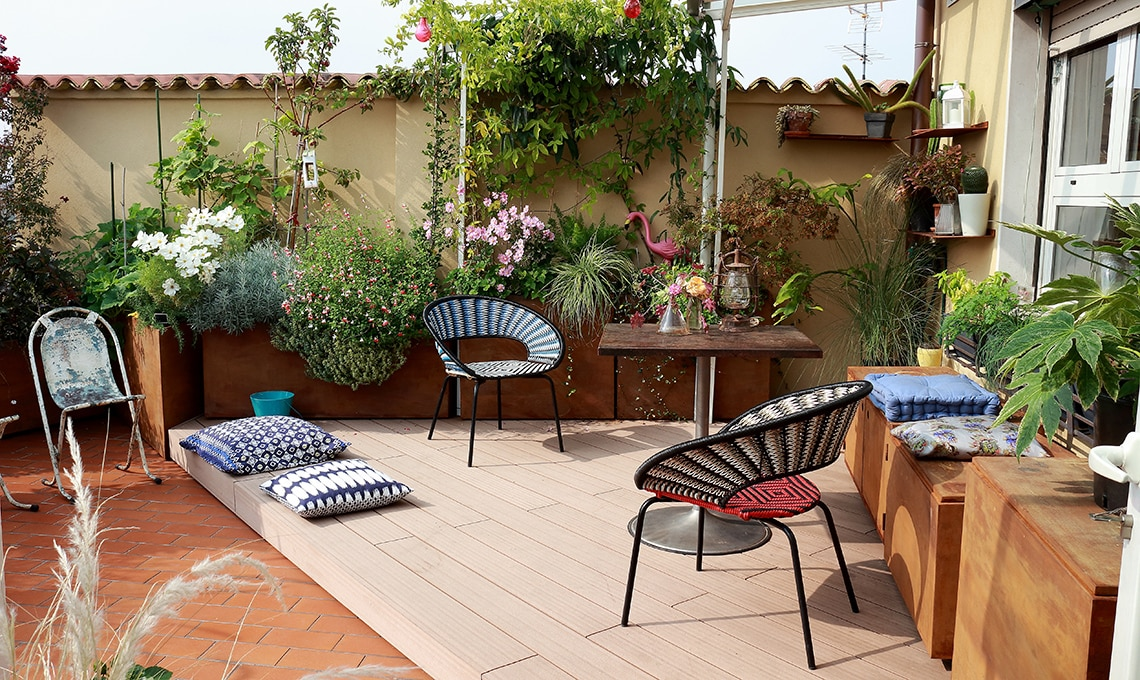 Come arredare e organizzare un grande terrazzo casafacile - Idee piante da giardino ...