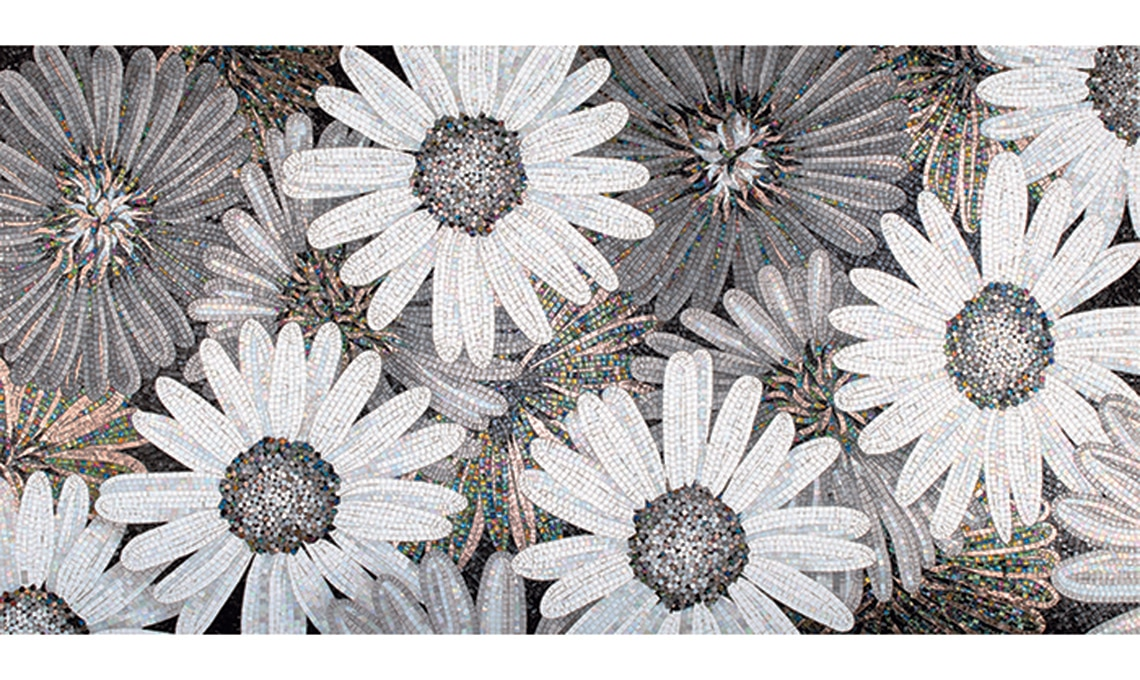 mosaico fiori