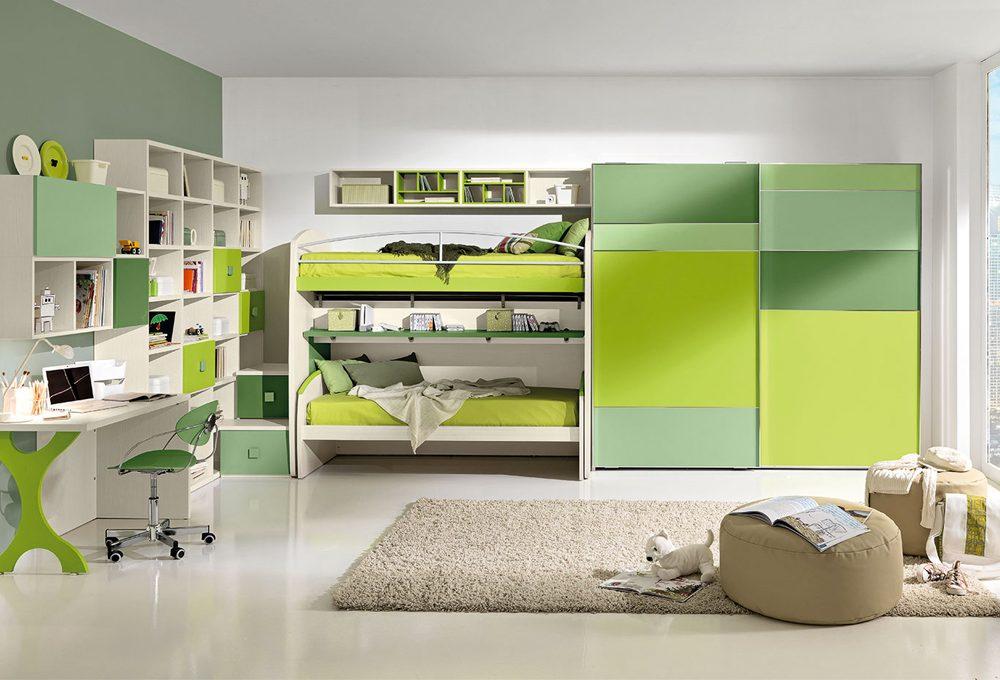 12 camerette nelle sfumature del verde