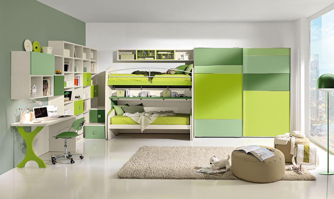 Cameretta Bianca E Beige : Camerette nelle sfumature del verde casafacile