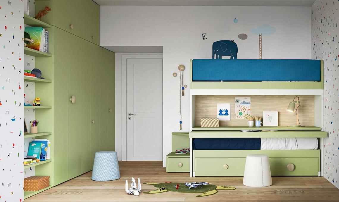 Cameretta Bianca E Verde : Camerette nelle sfumature del verde casafacile