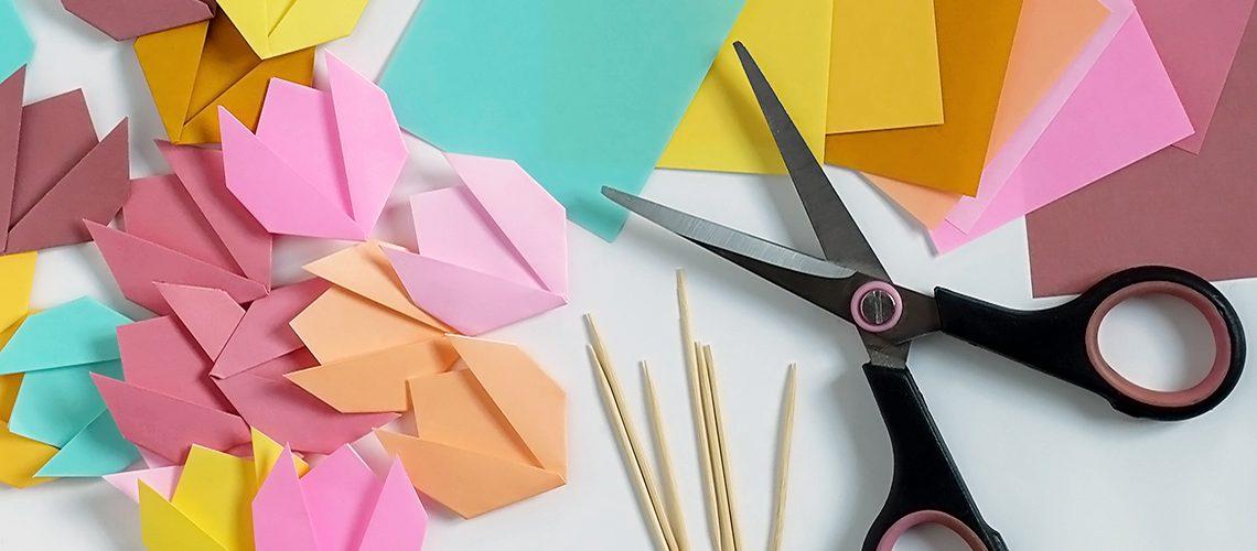 Tulipani origami per una tavola in fiore