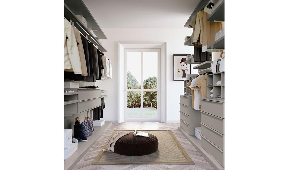Cabina armadio sfrutta lo spazio dietro la testata del letto casafacile - Armadio dietro al letto ...