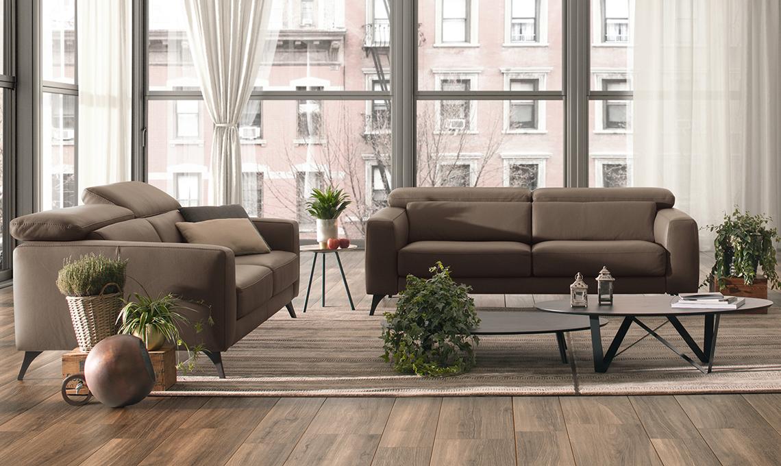 Il divano di pelle marrone torna di moda scegli il tuo preferito casafacile - Crea il tuo divano ...