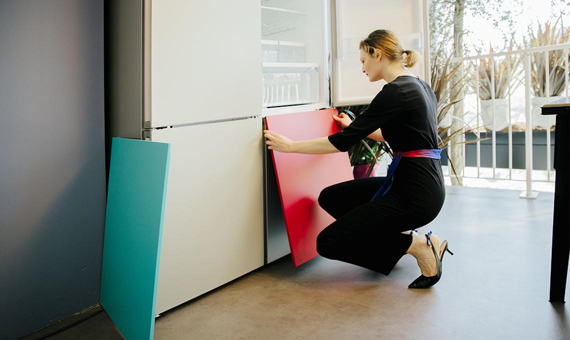 frigorifero colorato bosch