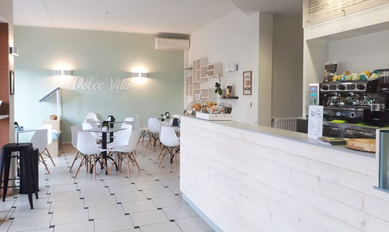 Restyling di una gelateria in stile nordico