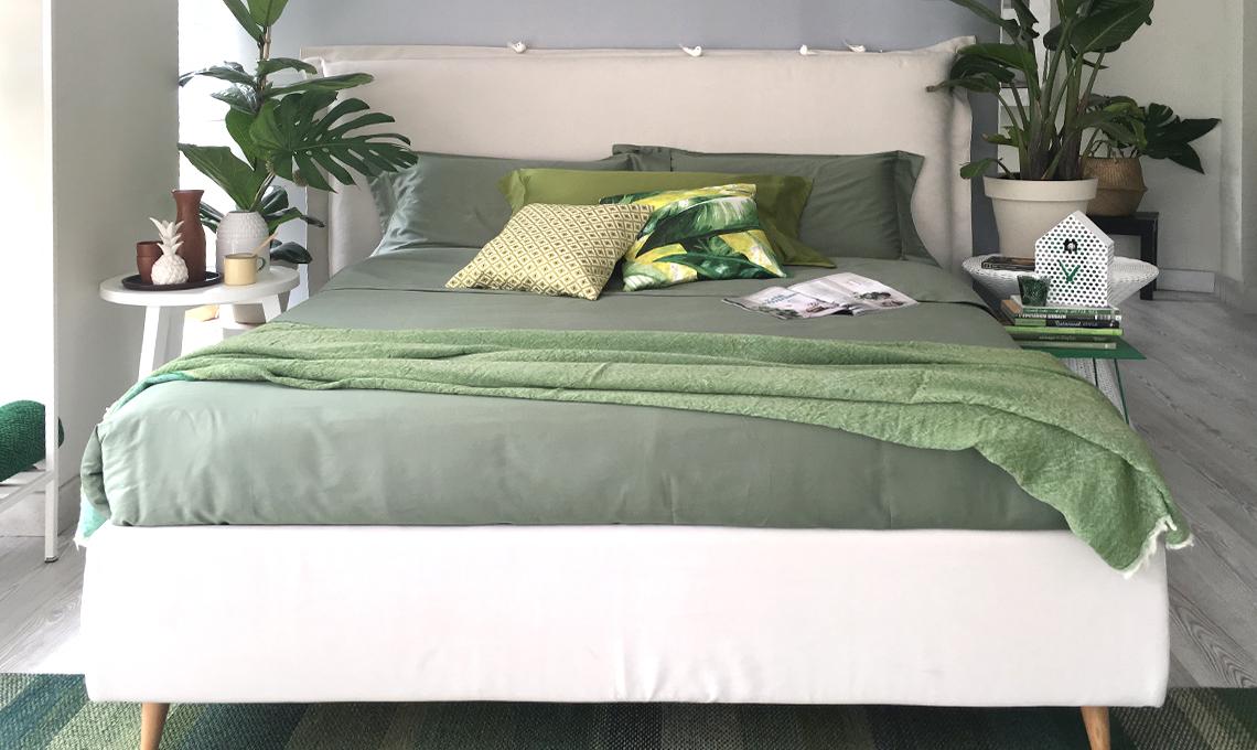 Copia lo stile un 39 oasi verde in camera da letto con for 3 piani casa in stile ranch da camera da letto