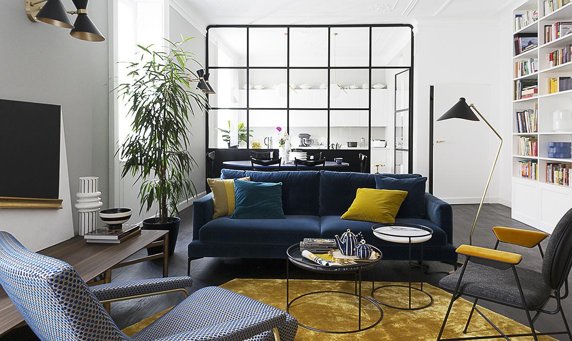 Un appartamento d 39 epoca con parete vetrata che divide - Cucina con vetrata a vista ...