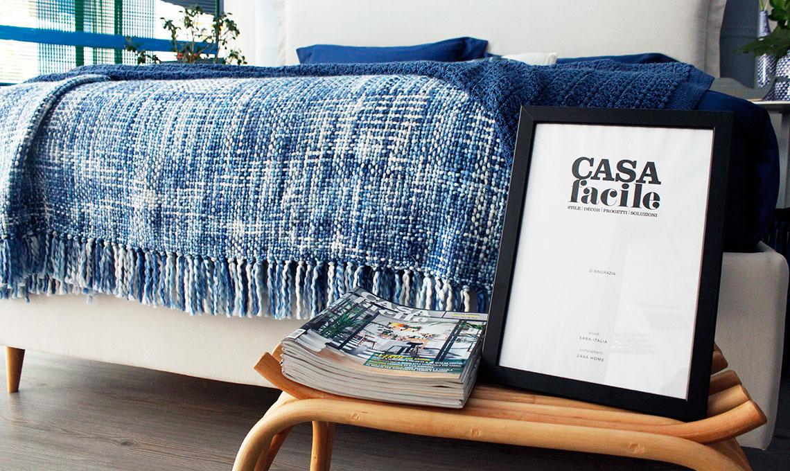 camera da letto blu