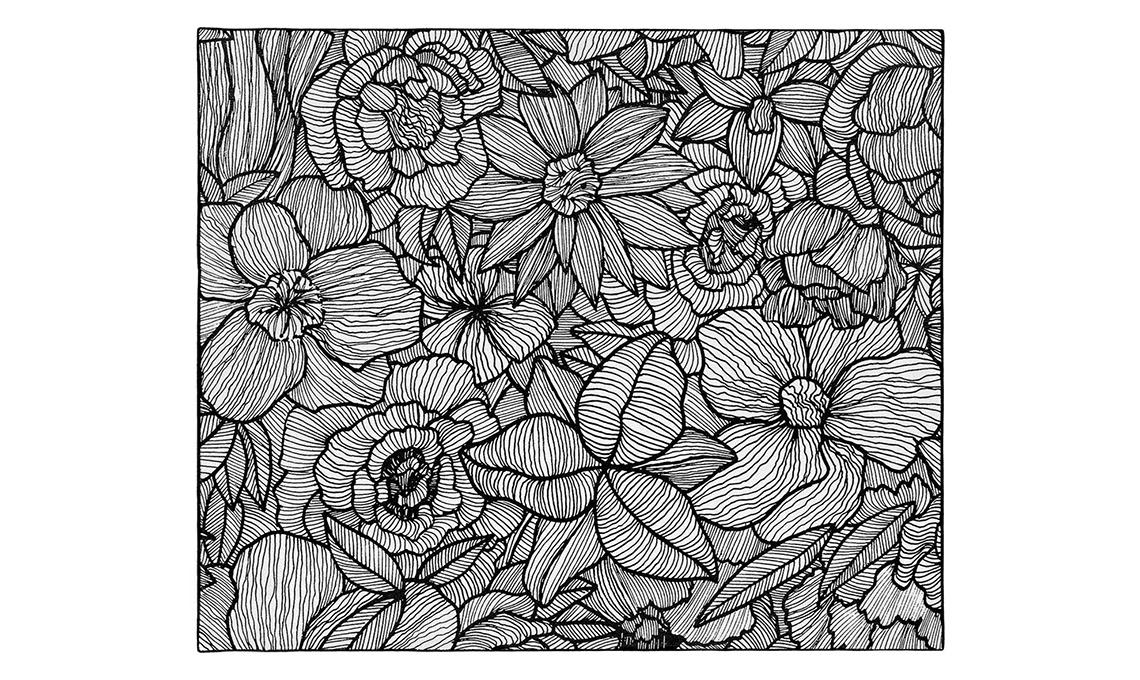 tappeto bianco e nero