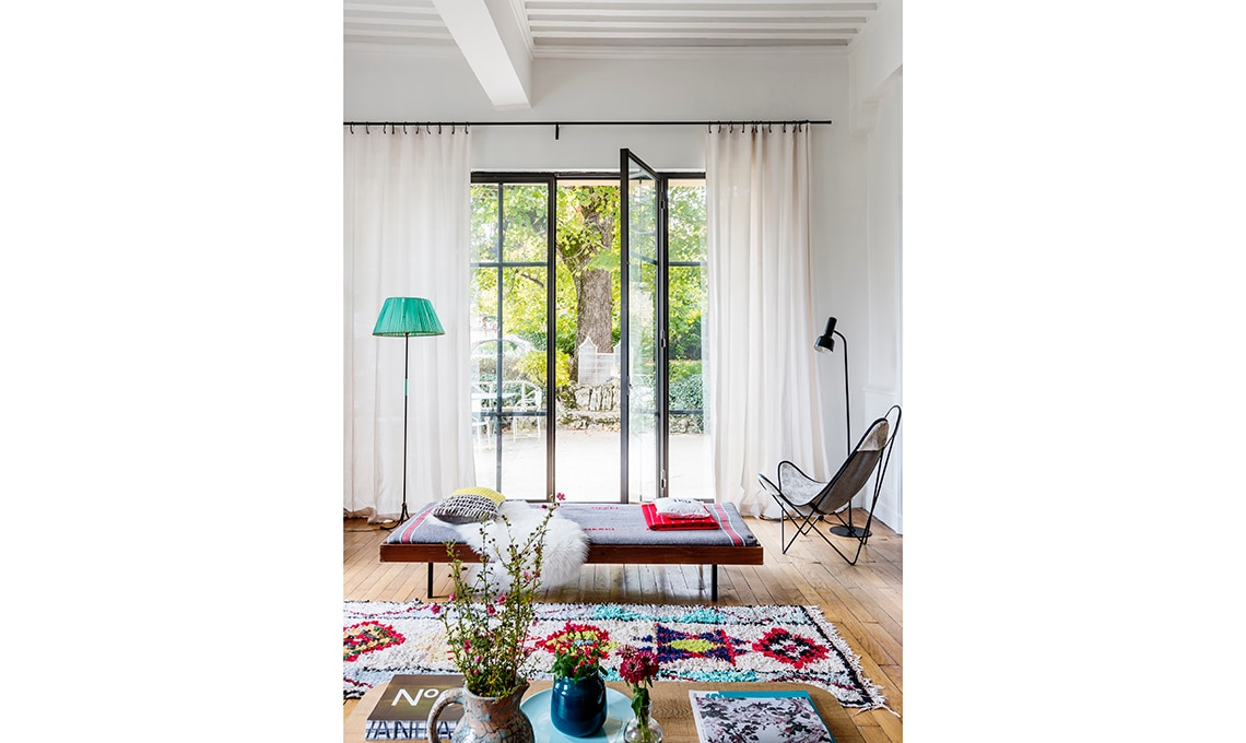 vetrata su giardino