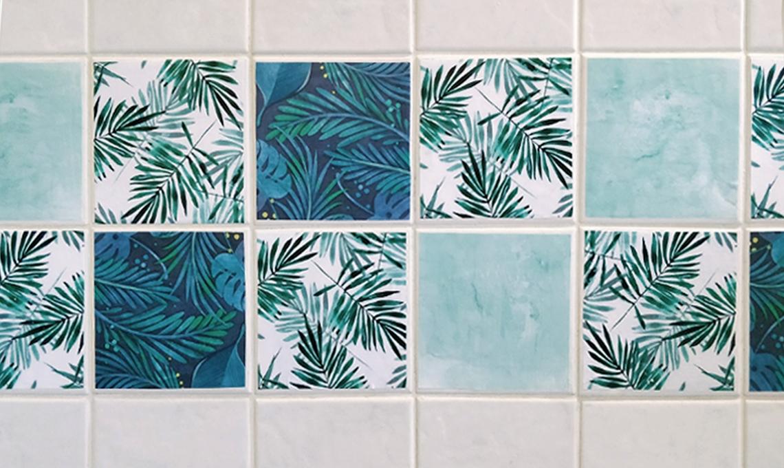Porta la giungla in casa decorando le piastrelle casafacile