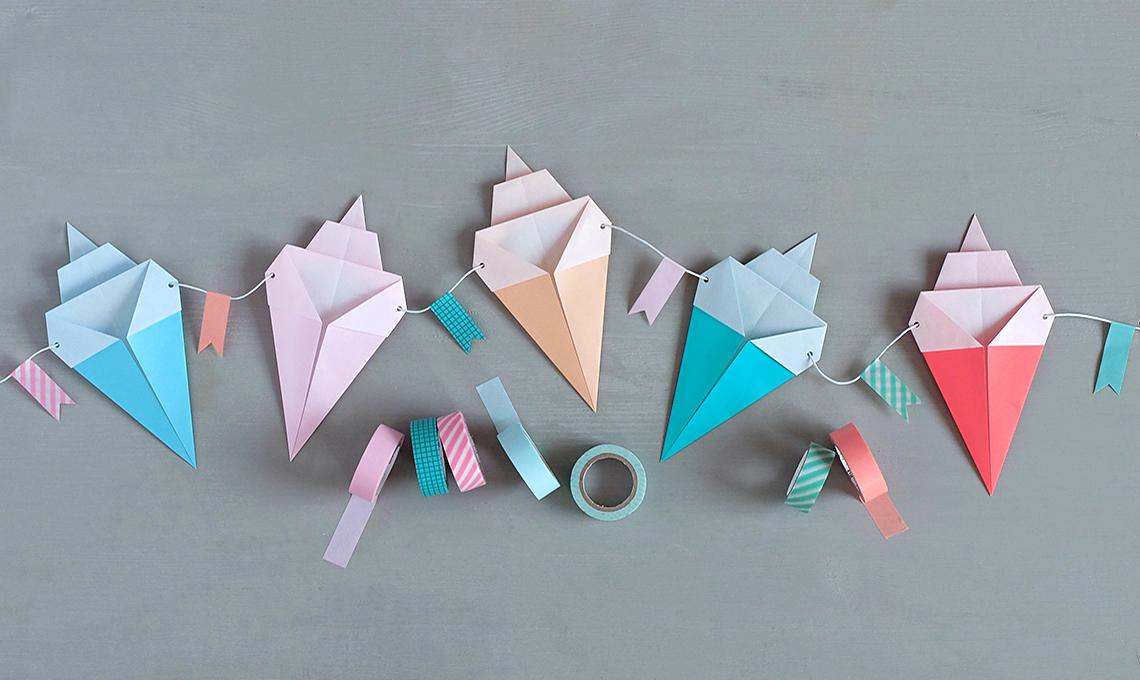 CasaFacile SSebastiani gelati origami washitape