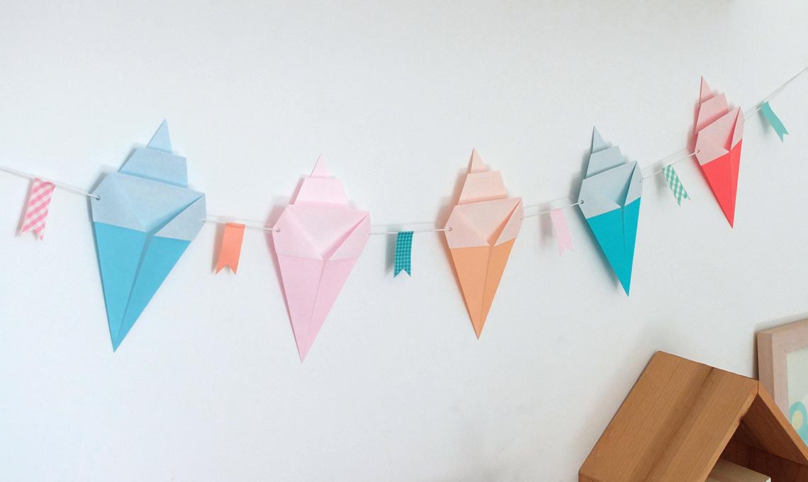 CasaFacile SSebastiani gelati origami ghirlanda
