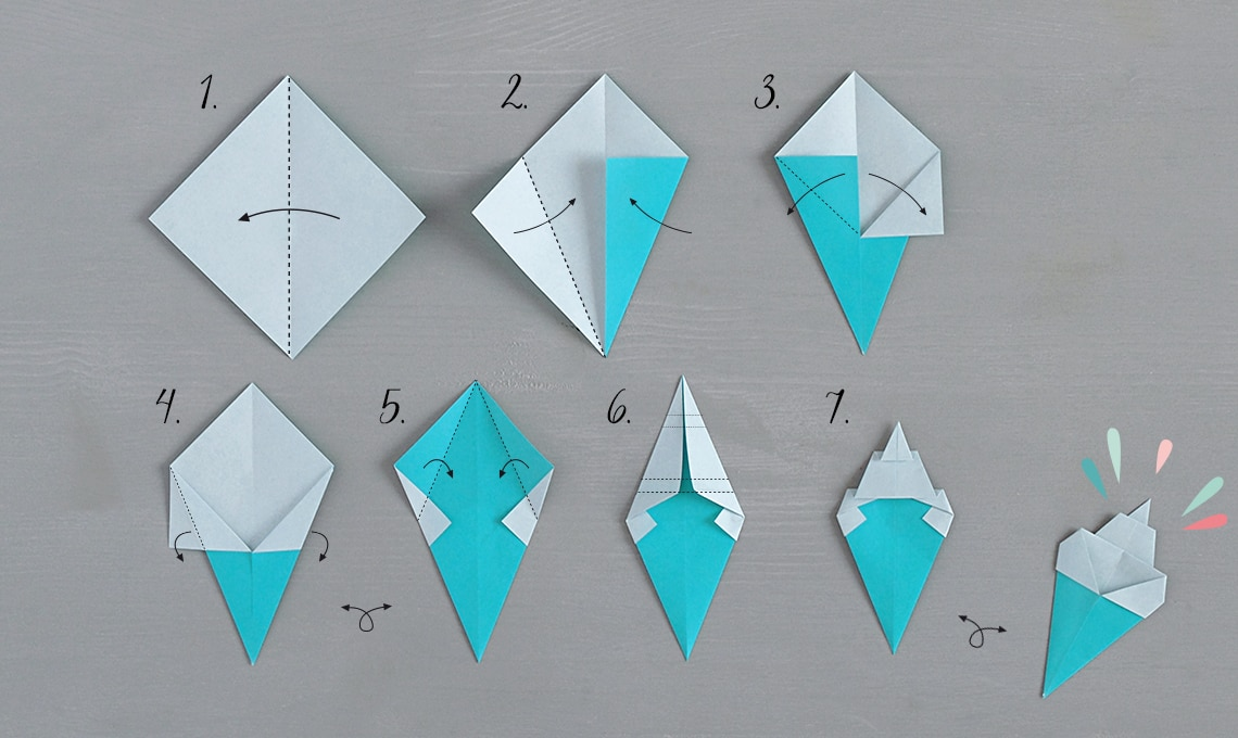 CasaFacile SSebastiani gelati origami istruzioni
