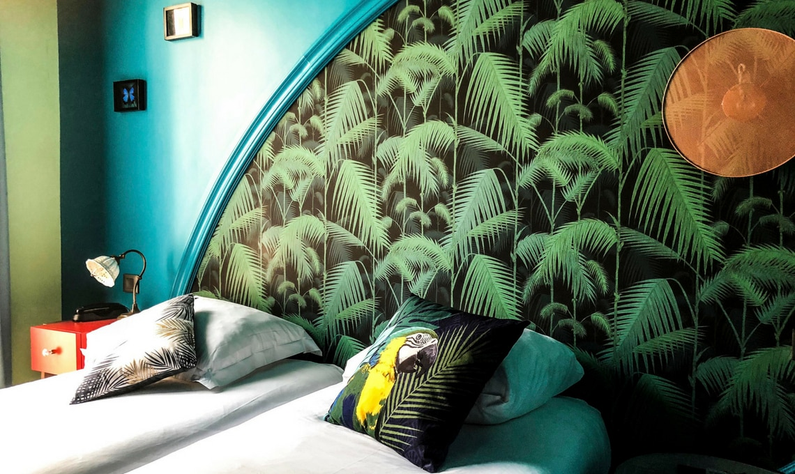 CasaFacile VZorzi stile jungalow hotel Bougainville Nizza letto
