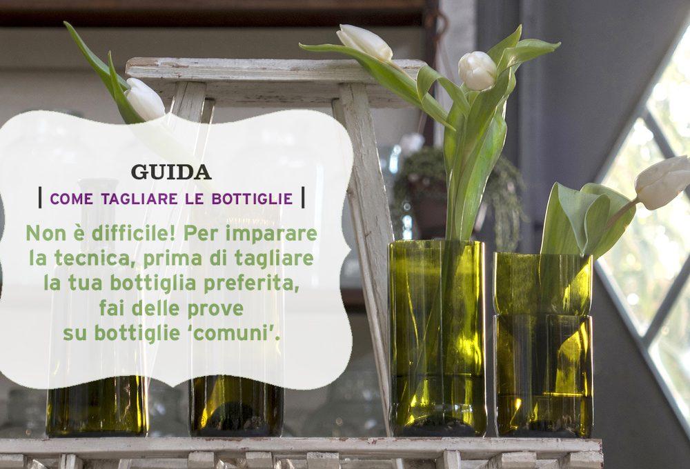 Taglia e ricicla le bottiglie di vetro per fare paralumi e porta candele casafacile - Bottiglie vetro ikea ...