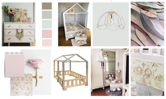 La camera per la bimba con il letto a casetta