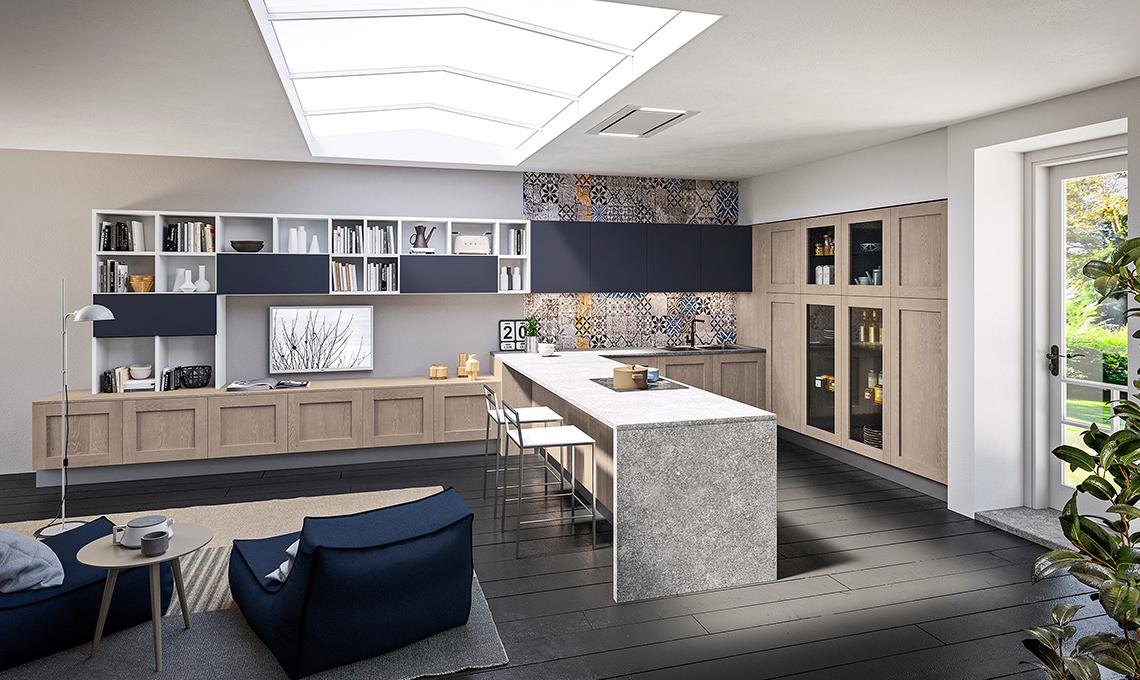Cucina e soggiorno in un unico ambiente - CASAfacile