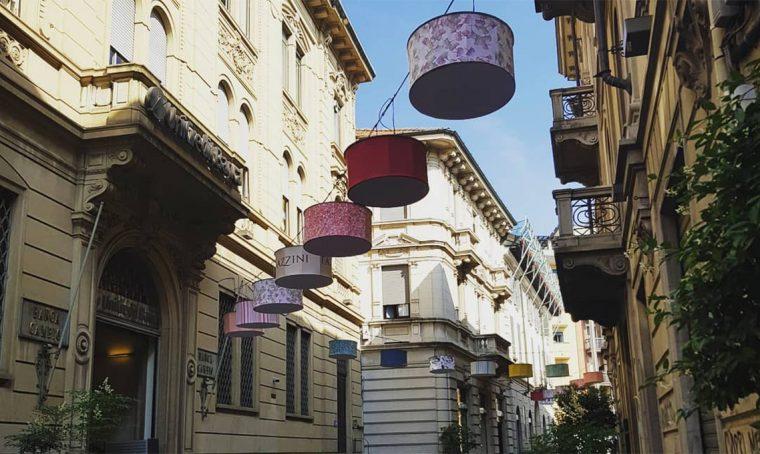 Fazzini èprotagonista dell'installazione di luci di Gallarate
