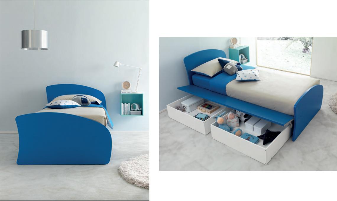 8 letti singoli con cassetti per la camera dei bambini - CASAfacile