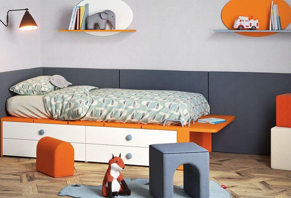 8 letti singoli con cassetti per la camera dei bambini