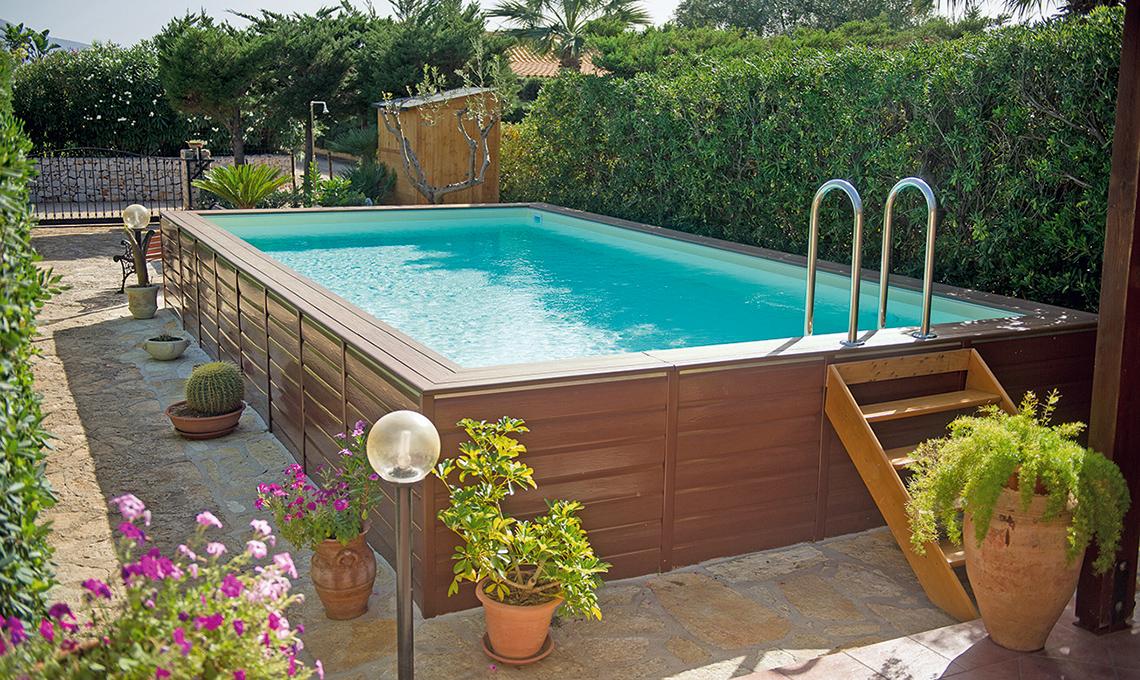 Piscine fuori terra per il tuo giardino casafacile - Piscina fuori terra in giardino ...