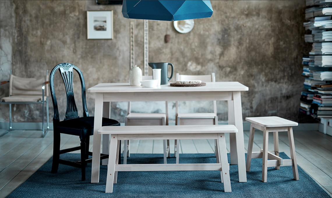 tavolo e panche Ikea japandy style