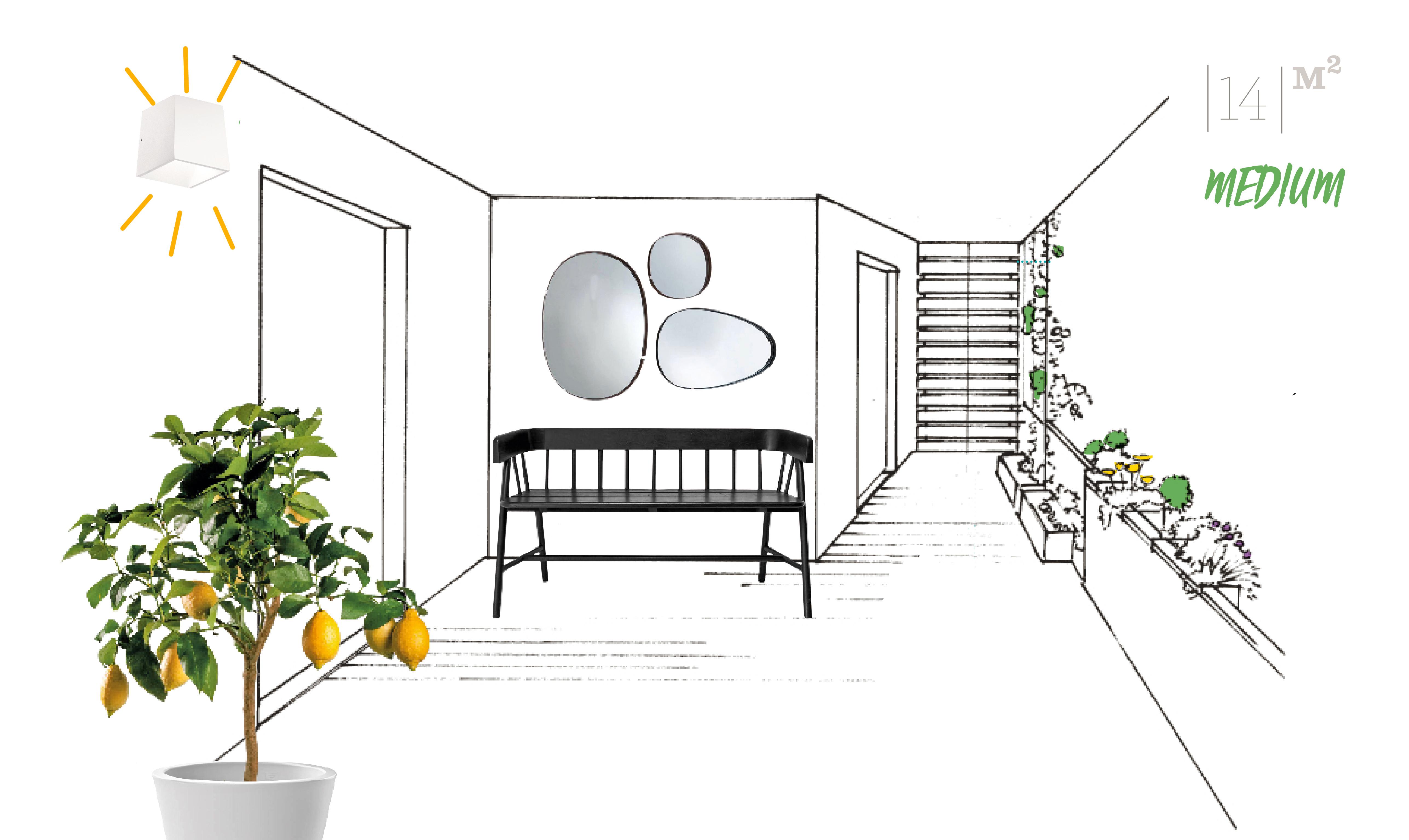 Come arredare il terrazzo di medie dimensioni casafacile - Lettere stampabili di medie dimensioni ...